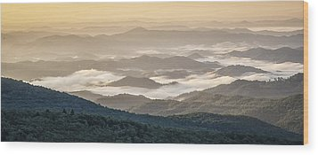 Mountain Valley Fog - Blue Ridge Parkway Wood Print