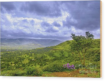 Wood Print featuring the photograph Mountain View by Charuhas Images