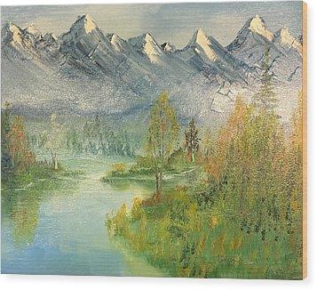 Mountain View Glen Wood Print