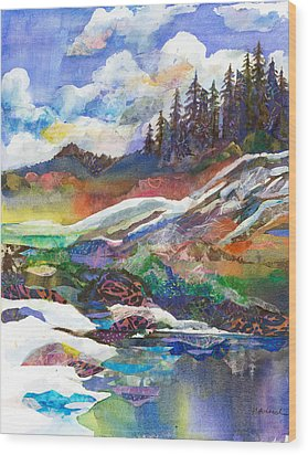 Mountain View Wood Print by Marty Husted