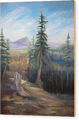 Mountain View Wood Print