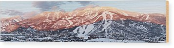 Wood Print featuring the photograph Mountain Werner  by Daniel Hebard