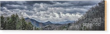 Wood Print featuring the photograph Mountains 1 by Walt Foegelle