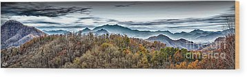 Wood Print featuring the photograph Mountains 2 by Walt Foegelle