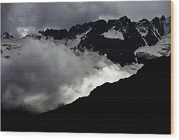 Mountains Clouds 9950 Wood Print by Marco Missiaja