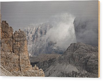 Mountains Depth 1150 Wood Print by Marco Missiaja