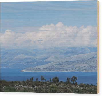 Mountains Far Away  3 Wood Print by George Katechis