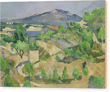 Mountains In Provence Wood Print by Paul Cezanne