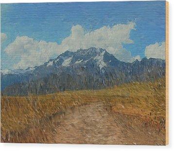 Mountains In Puru Wood Print by David Lane