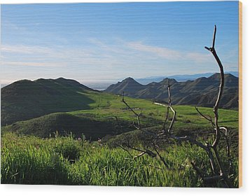 Wood Print featuring the photograph Mountains To Valley View by Matt Harang
