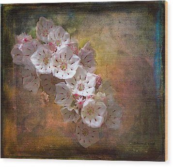 Mountain Laurel Wood Print