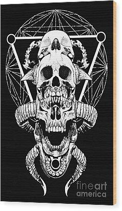 Mouth Of Doom Wood Print