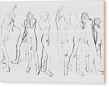 Movement Wood Print by Joanne Claxton