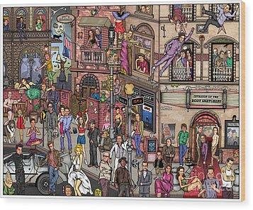 Movie Stars Wood Print by Matan Kohn
