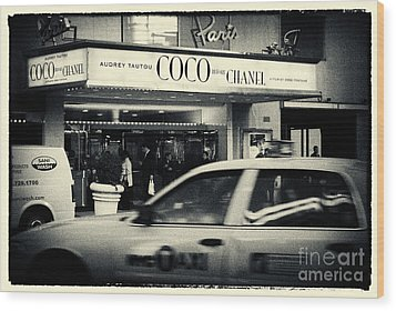Movie Theatre Paris In New York City Wood Print