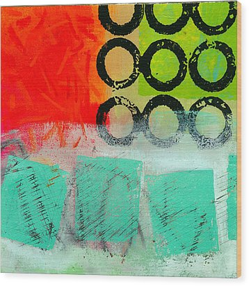 Moving Through 11 Wood Print by Jane Davies