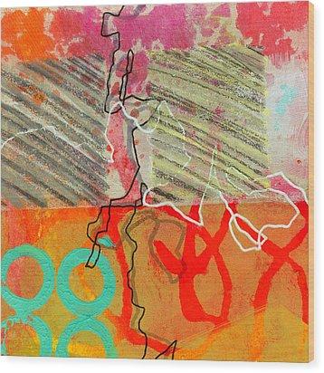 Moving Through 7 Wood Print by Jane Davies