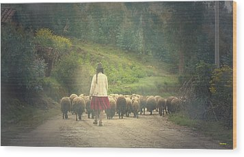 Moving To Greener Pastures Ankawasi Peru Wood Print