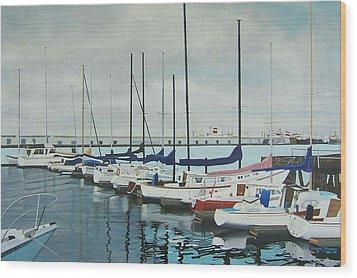 Mozells Boats Wood Print by Howard Stroman