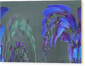 Mprints - Wisteria Wood Print by M  Stuart