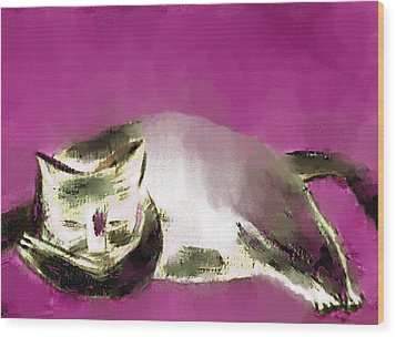 Mprints - The Color Purple Wood Print by M  Stuart