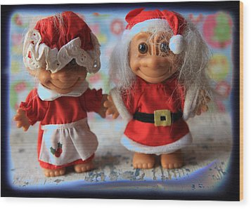 Mr And Mrs Santa Troll Photograph By Toni Hopper