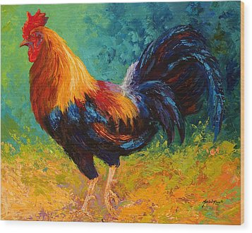 Mr Big - Rooster Wood Print