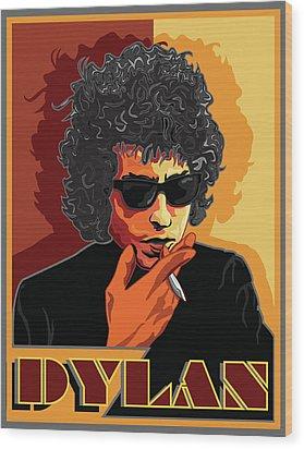 Mr Bob Dylan Wood Print by Larry Butterworth