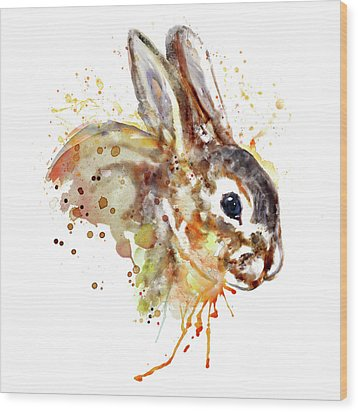 Wood Print featuring the mixed media Mr. Bunny by Marian Voicu