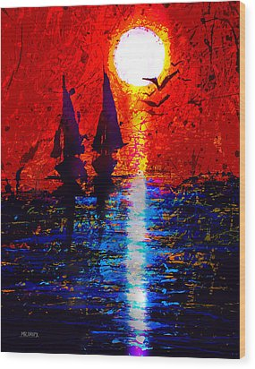 Dripx 70 Wood Print