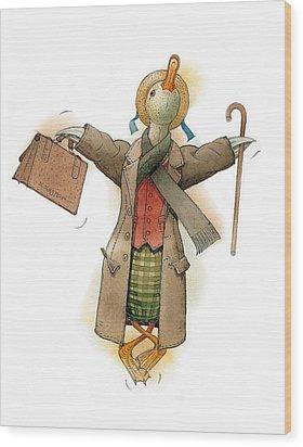 Mr Duck Wood Print by Kestutis Kasparavicius