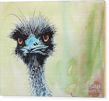 Mr. Grumpy Wood Print by Tom Riggs