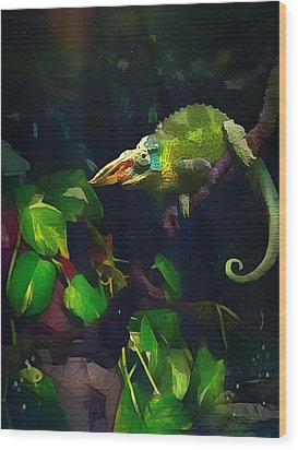 Wood Print featuring the photograph Mr. H.c. Chameleon Esquire by Sharon Jones