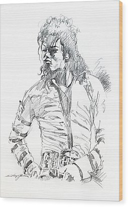 Mr. Jackson Wood Print by David Lloyd Glover