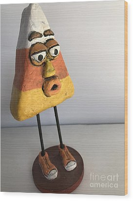 Wood Print featuring the sculpture Mr Korny by Vickie Scarlett-Fisher