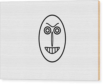 Mr Mf Has A False Smile Wood Print