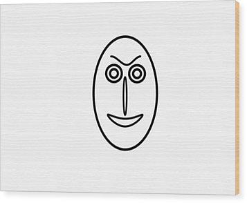 Mr Mf Is Friendly  Wood Print
