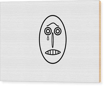 Mr Mf Is Sad  Wood Print