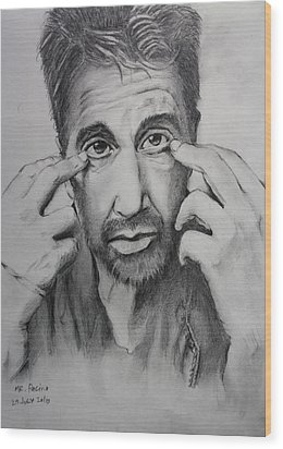 Mr. Pacino Wood Print by Ted Castor