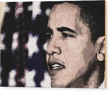 Mr. President Wood Print by LeeAnn Alexander