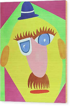 Wood Print featuring the painting Mr. Strangefellow by Thomas Blood