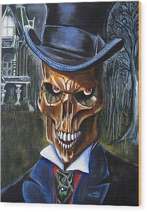 Mr. Styx Wood Print by Chris Benice