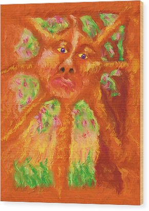 Wood Print featuring the painting Mr Sun by Shelley Bain