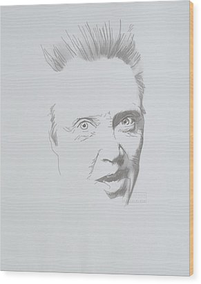 Wood Print featuring the mixed media Mr. Walken by TortureLord Art