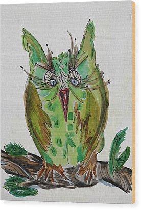 Mr.lime Owl Wood Print