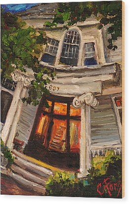 Ms Felkers Home Wood Print by Carole Foret