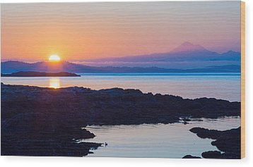 Mt. Baker Sunrise Wood Print