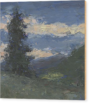 Mt Baldy Wood Print
