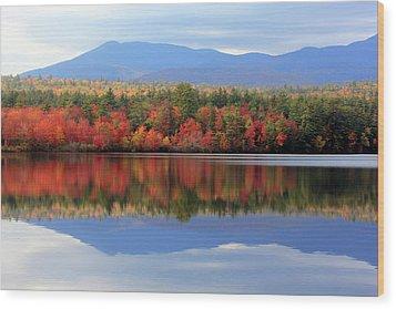Mt. Chocorua Reflections I Wood Print by Lynne Guimond Sabean