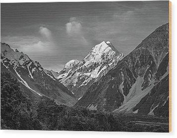Mt Cook Wilderness Wood Print by Racheal Christian